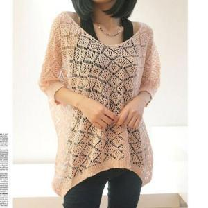 Nice Hollow Out Pullover Knit Sweater