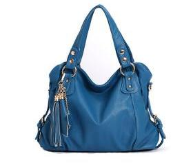 Cool Blue Tassel Handbag & Shoulder Bag