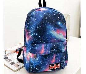 Creative Galactic Glaxy Canvas Backpack