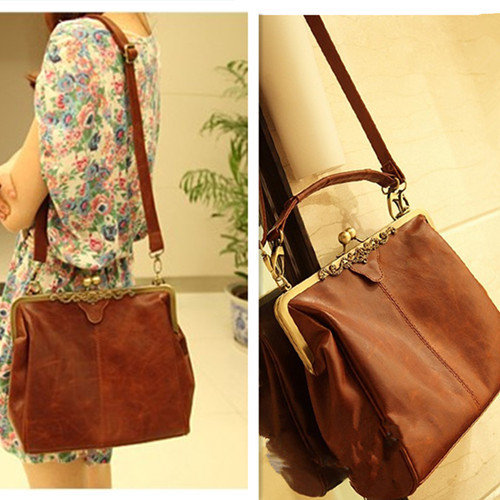 Fashion Style Brown Hollow Out Shoulder Bag on Luulla