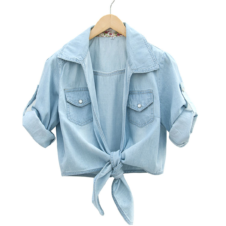 Washed Denim Half Sleeve Shirt On Luulla
