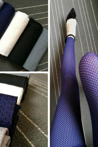 Whole Color Mesh Thin Ice Silk Sun Block Ninth Leggings