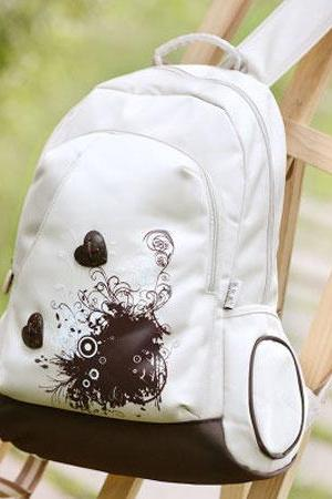 Leaves Print School Bag Waterproof Strong Backpack
