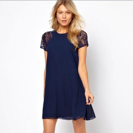 Sexy Lace Back Chiffon Dress